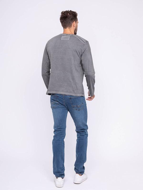 T-shirt manches longues col rond pur coton JAZETOX