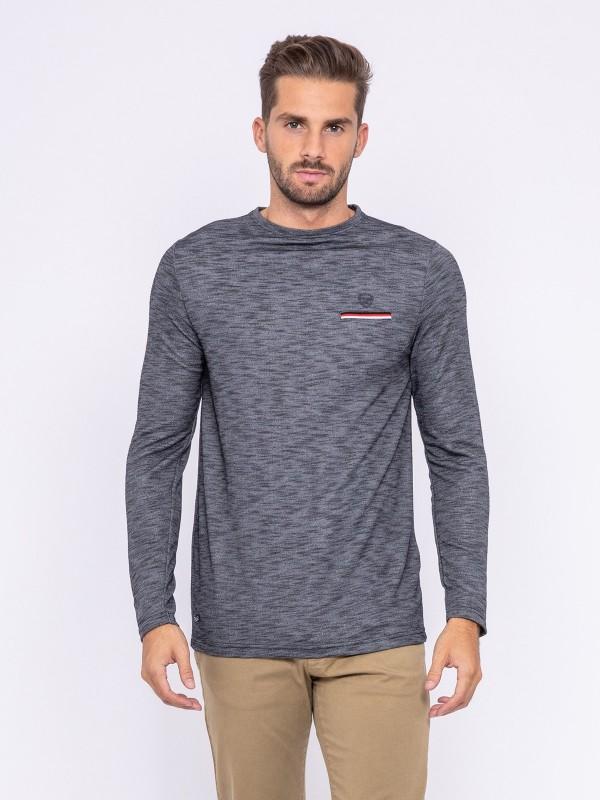 T-shirt manches longues col rond JAWANE