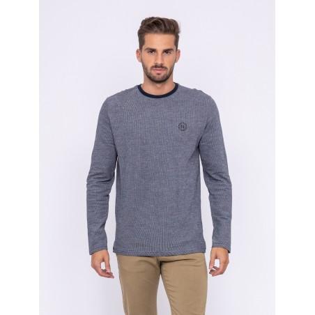T-shirt manches longues col rond pur coton JESBAC