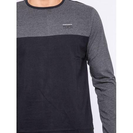 T-shirt manches longues col rond pur coton JILOMATE