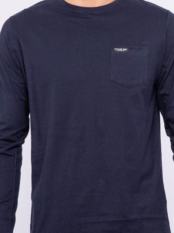 T-shirt manches longues col rond JELMONI