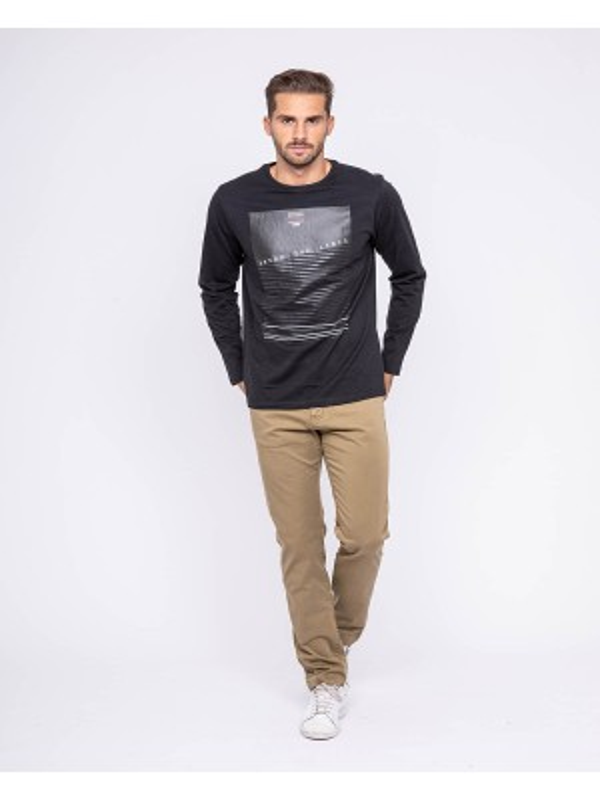 T-shirt manches longues col rond pur coton JUVIGNY