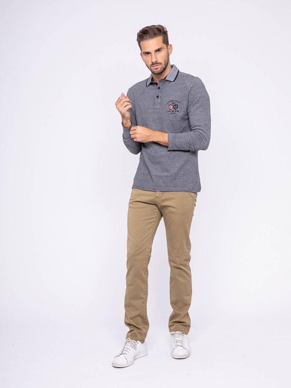 Polo manches longues pur coton POITIER