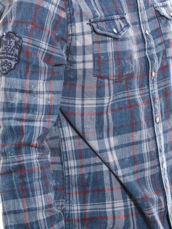Chemise manches longues carreaux KJ TATOU