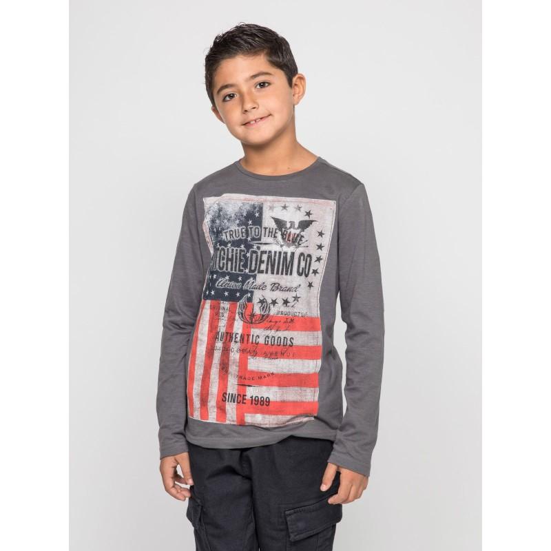 T-shirt manches longues col rond pur coton JOBARY-J
