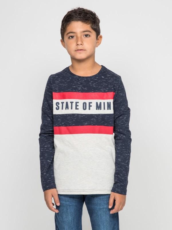 T-shirt manches longues col rond pur coton JOYS-J