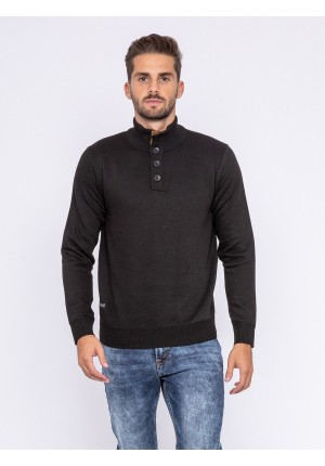 Pull col montant boutons LULITE