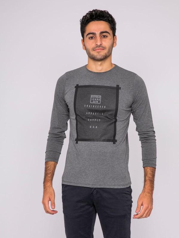 T-shirt manches longues col rond KJ-JONI