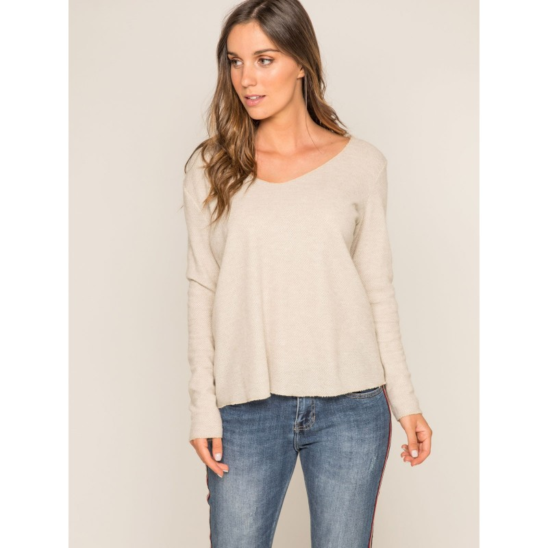 Pull fin col rond KACTUS