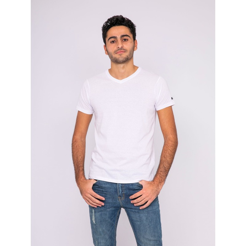 T-shirt col V pur coton organique WETHERBY