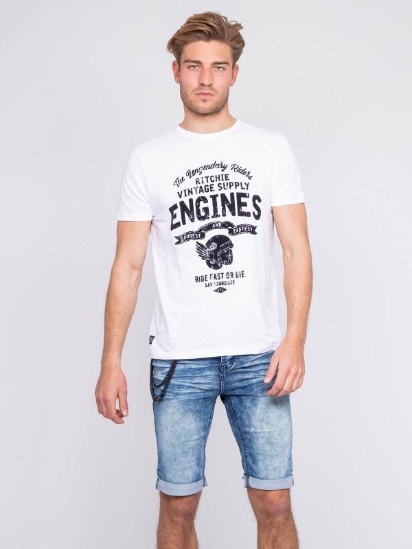 T-shirt col rond pur coton NADJAR