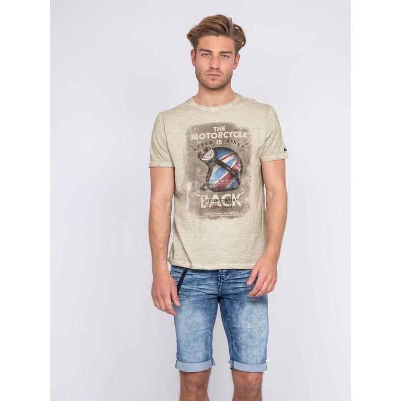 T-shirt col rond pur coton NEKFEU