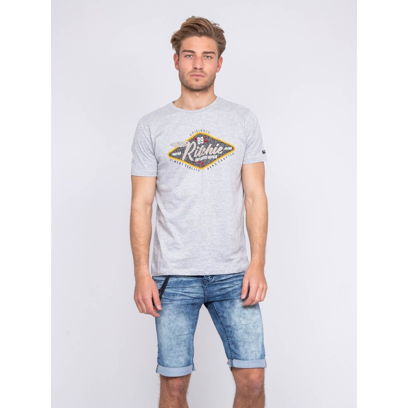 T-shirt col rond pur coton NAUTILUS