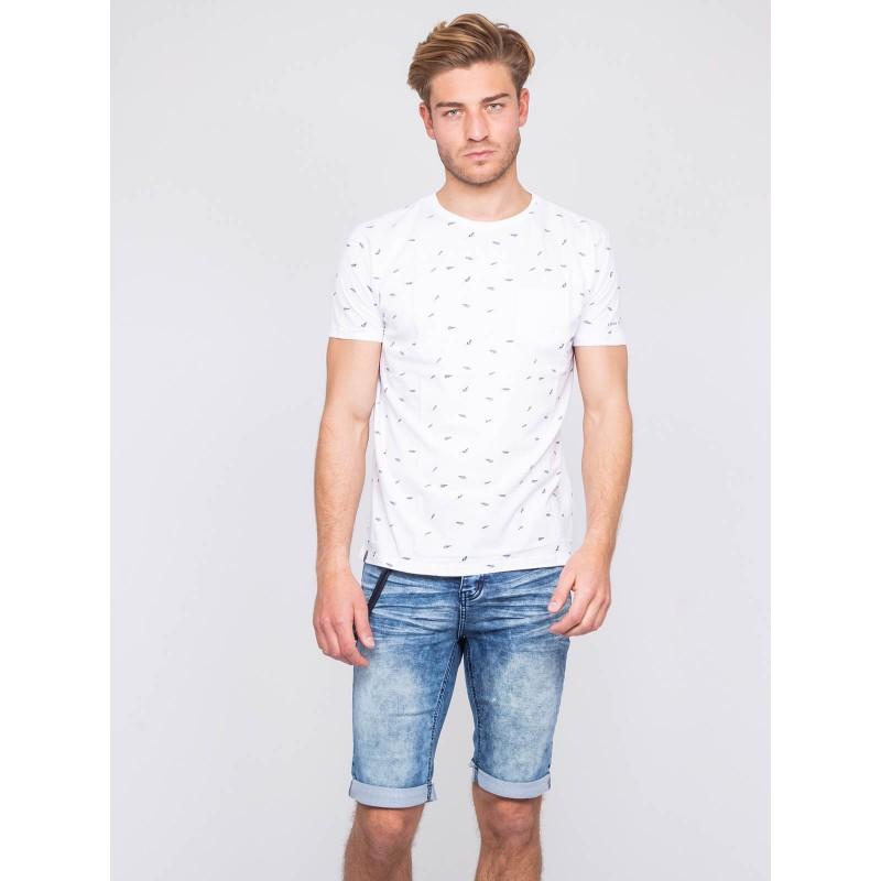 T-shirt col rond pur coton NELATIX