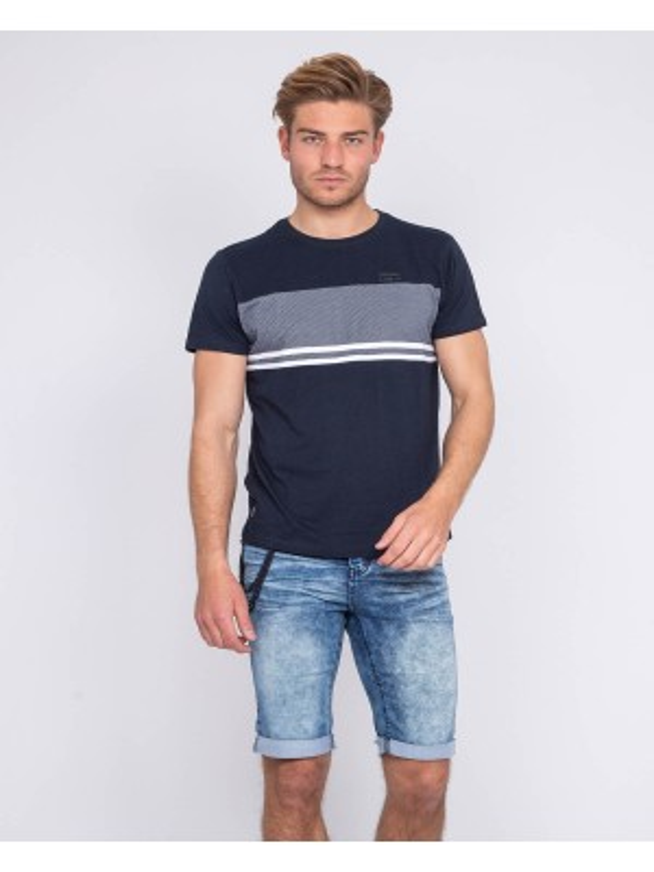 T-shirt col rond pur coton motifs NOBILI