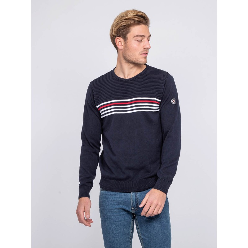 Pull fin col rond coton ACTION