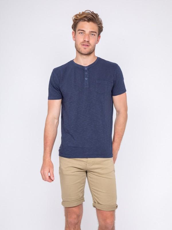 T-shirt col tunisien pur coton NARNIA
