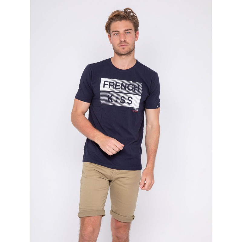 T-shirt col rond pur coton NEBULO