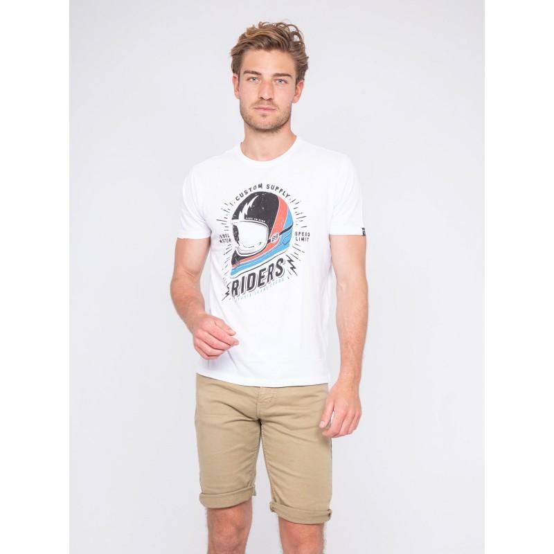 T-shirt col rond pur coton NOXOU