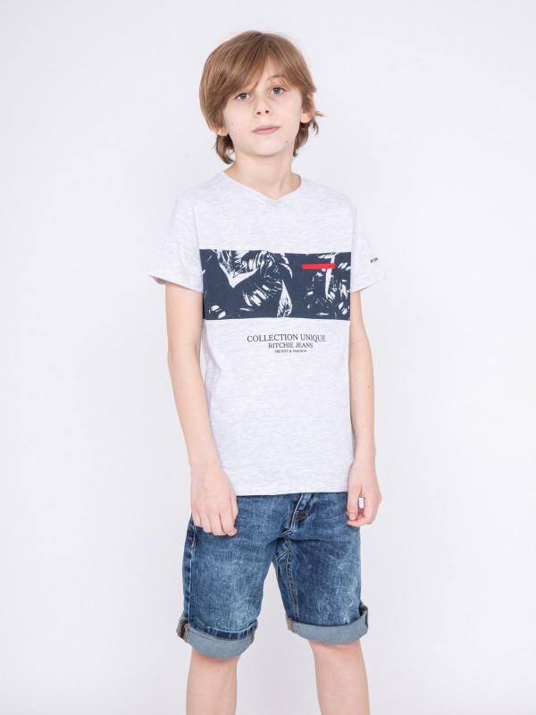 T-shirt col rond motifs NADIMO-J