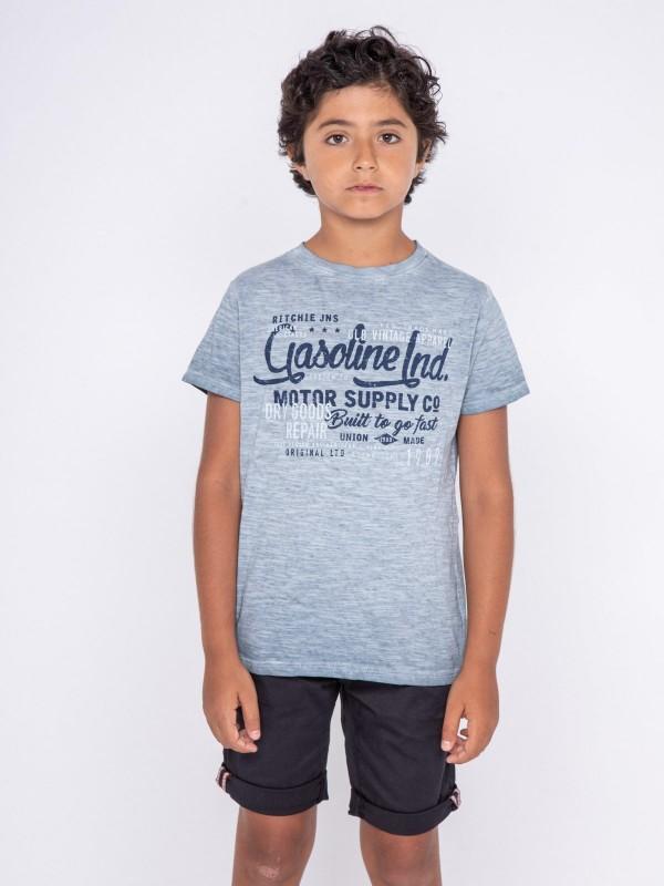 T-shirt col rond pur coton NALRIVE-J
