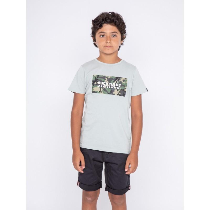 T-shirt col rond pur coton NAWAK-J