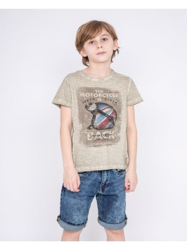 T-shirt col rond pur coton NEKFEU-J