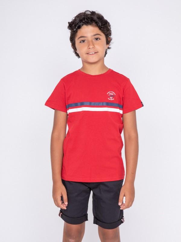 T-shirt col rond pur coton NIAGARA-J