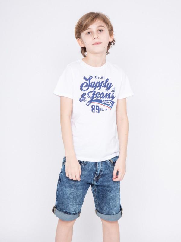 T-shirt col rond pur coton NIGLOU-J