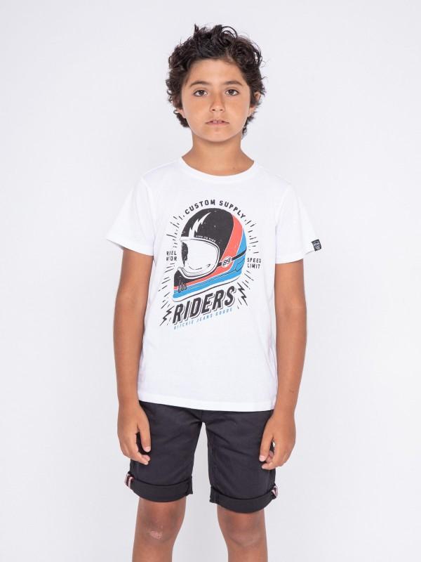T-shirt col rond pur coton NOXOU-J
