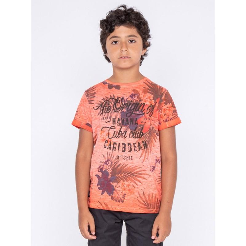 T-shirt col rond pur coton NAGANO-J