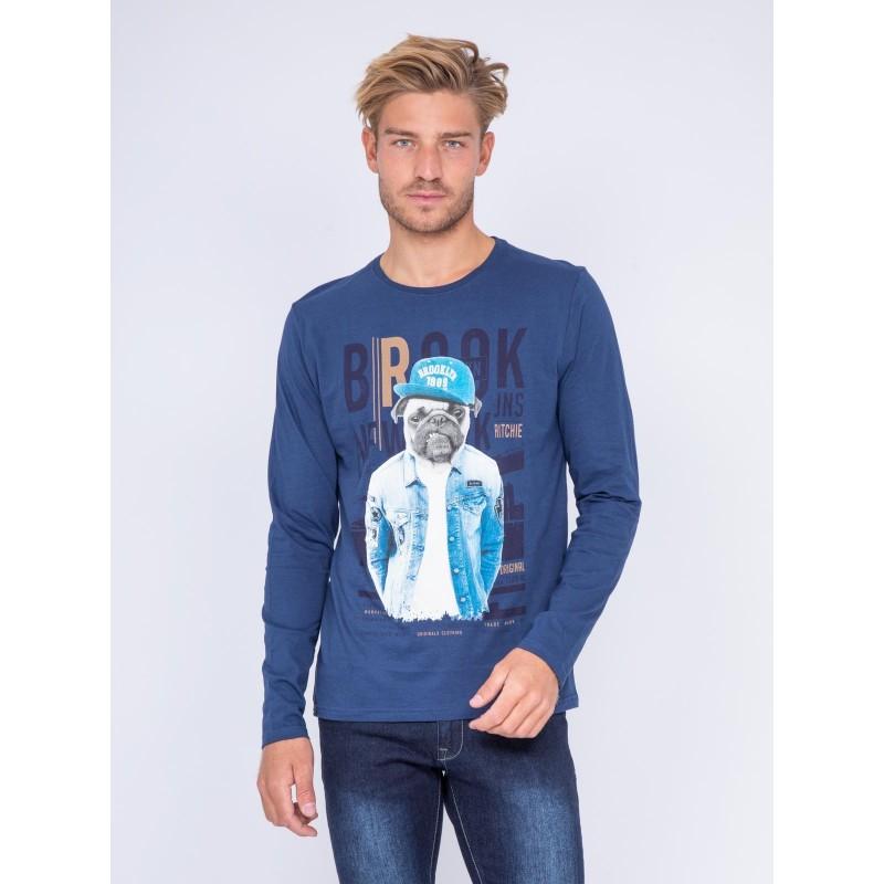 T-shirt col rond pur coton JUADA