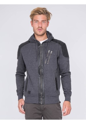Sweat zippé capuche WEST