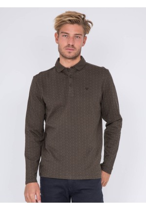 Polo manches longues pur coton PITAMIX