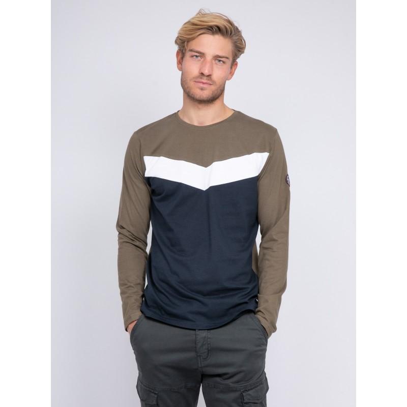 T-shirt manches longues col rond pur coton JANITOU