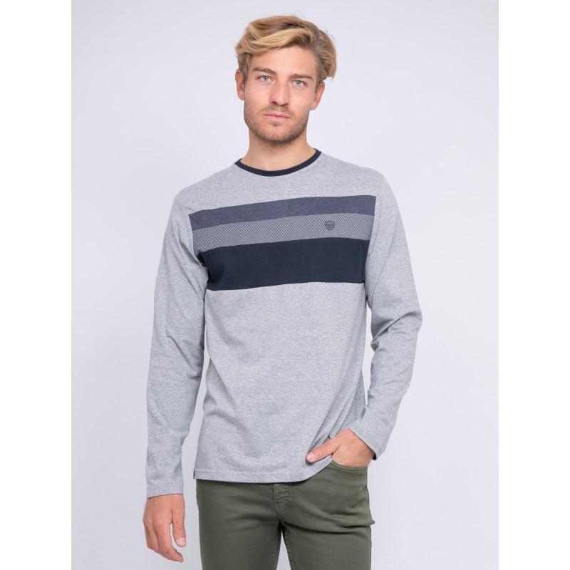 T-shirt manches longues col rond pur coton JONTANA