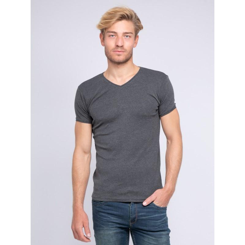 T-shirt col V pur coton organique WORD