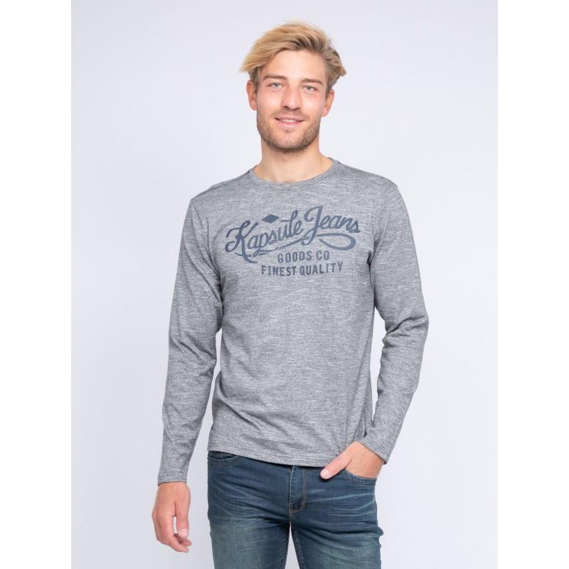 T-shirt col V manches longues pur coton KJ JOEY