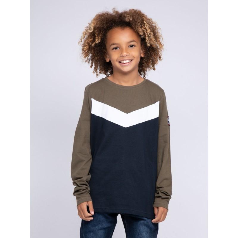 T-shirt manches longues col rond pur coton JANITOU-J