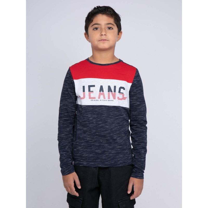 T-shirt manches longues col rond pur coton JILAMBY-J