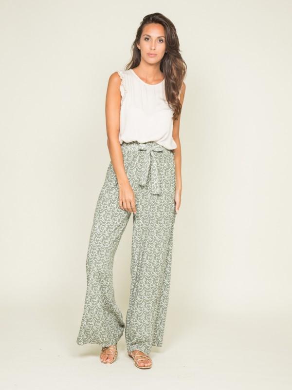 Pantalon fluide motifs ELYNE