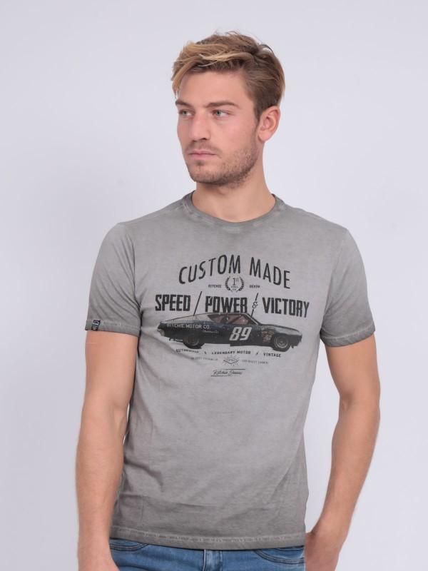 T-shirt col rond pur coton NABIENO