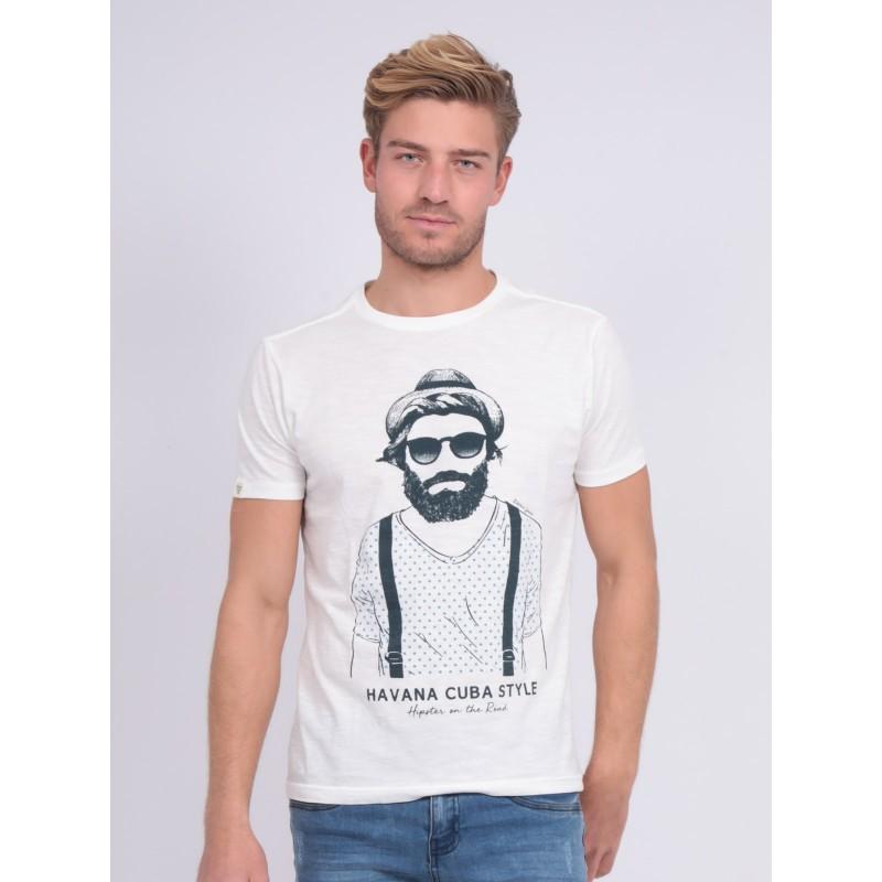 T-shirt col rond pur coton NALTOX