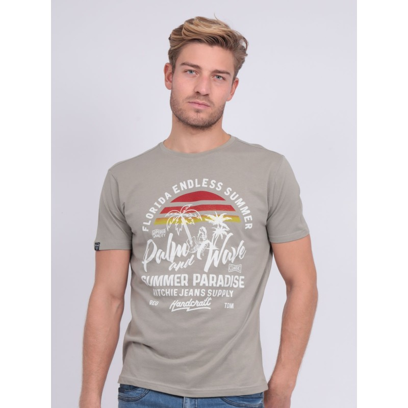 T-shirt col rond pur coton NATULOP