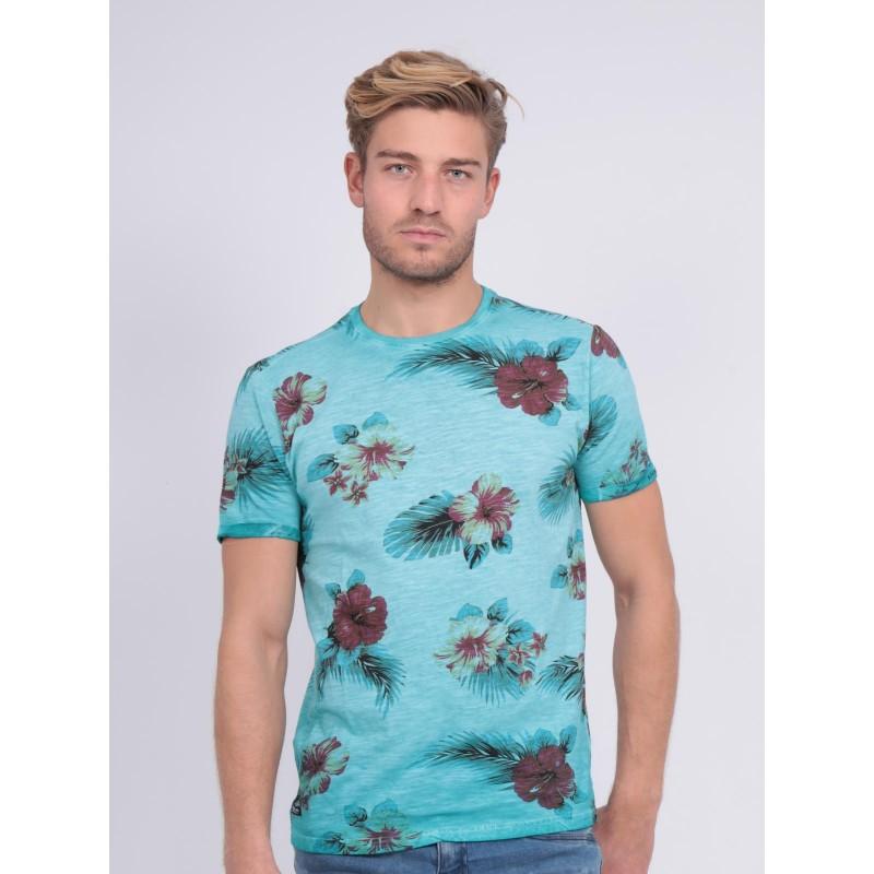 T-shirt col rond pur coton NEMTALI