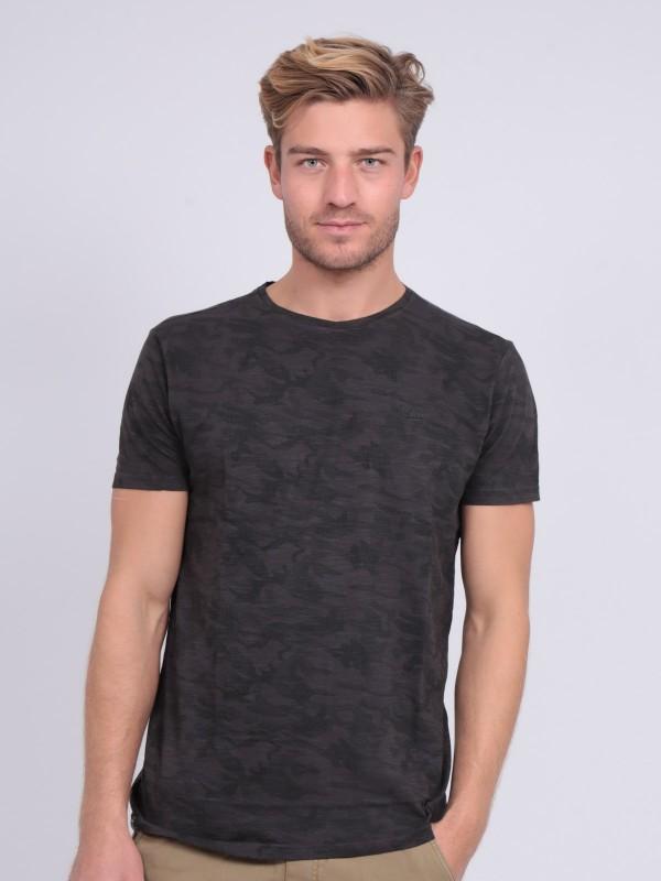 T-shirt col rond pur coton motifs NENDRIX