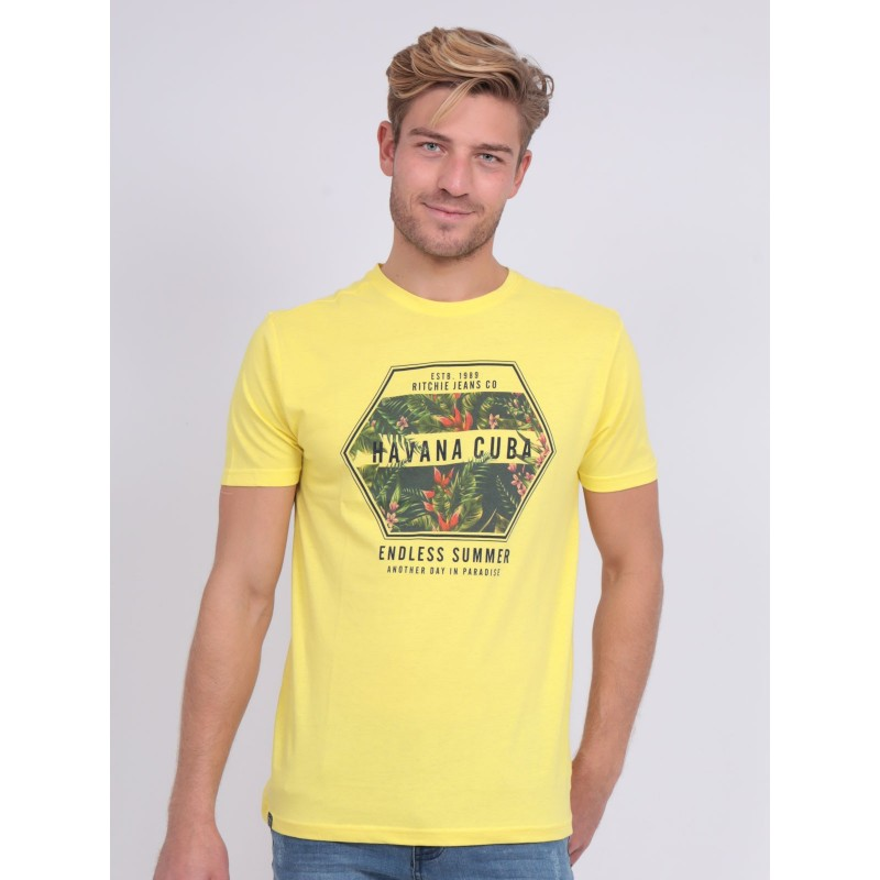 T-shirt col rond pur coton NIBOU