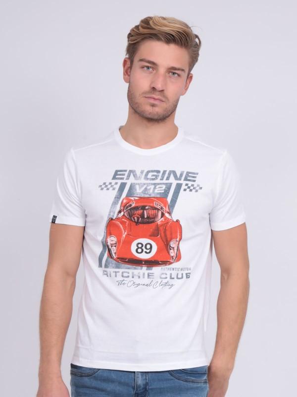 T-shirt col rond pur coton NITALI