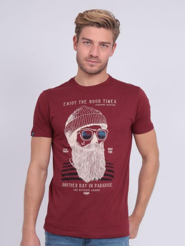T-shirt col rond pur coton NOBELIX