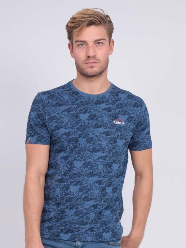 T-shirt col rond pur coton motifs NOMERIC